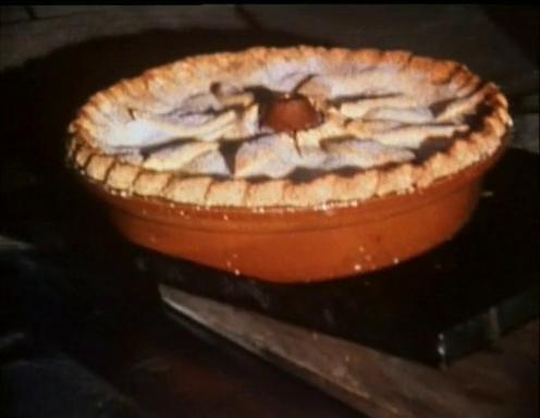 Alta tarta de manzanas